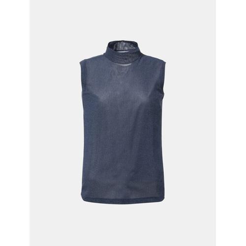 [빈폴골프] 여성 네이비 메쉬 솔리드 민소매 티셔츠 (BJ8442A09R)