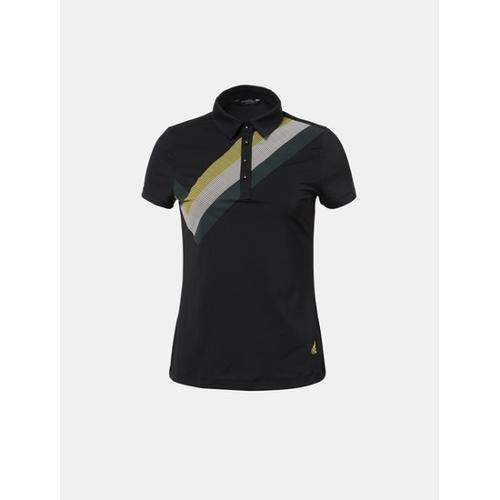 [빈폴골프] 여성 블랙 원포인트 칼라 티셔츠 (BJ8342A055)