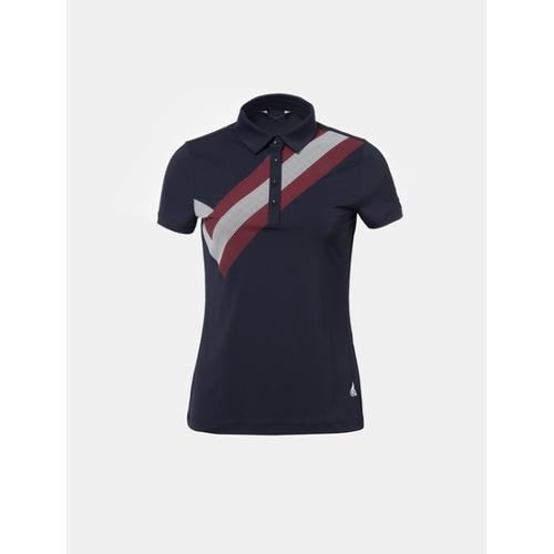 [빈폴골프] 여성 네이비 원포인트 칼라 티셔츠 (BJ8342A05R)