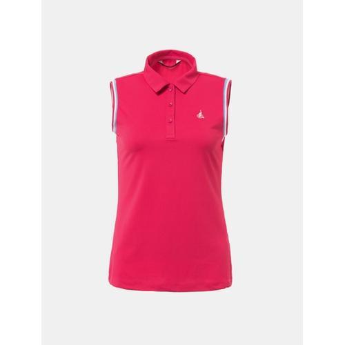 [빈폴골프] 여성 핑크 민소매 칼라 티셔츠 (BJ8442A14X)