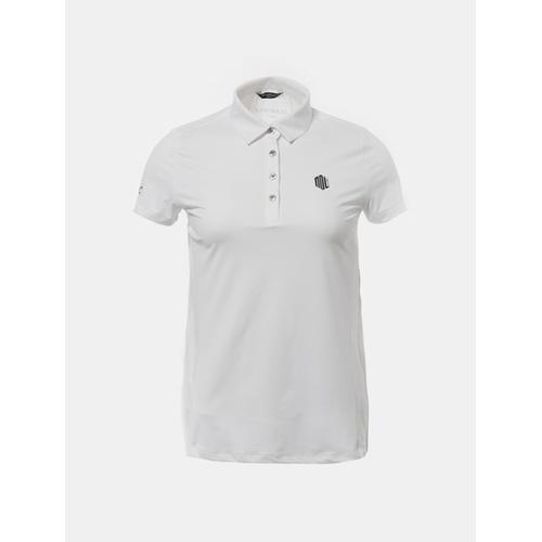 [빈폴골프] [NDL 라인] 여성 화이트 백플리츠 반팔 칼라 티셔츠 (BJ8542A201)