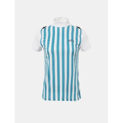 [빈폴골프] [THE OPEN] 여성 그린 버티컬 스트라이프 티셔츠 (BJ8342E03M)