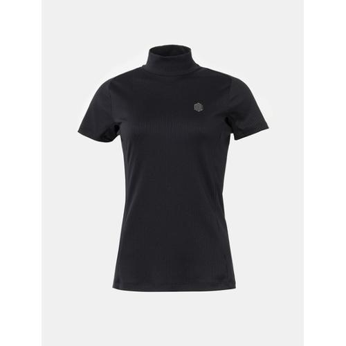 [빈폴골프] [NDL 라인] 여성 블랙 하프넥 골지 티셔츠 (BJ8542A255)