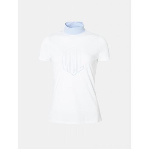 [빈폴골프] [NDL라인] 여성 화이트 로고 포인트 하이넥 티셔츠 (BJ9342L621)