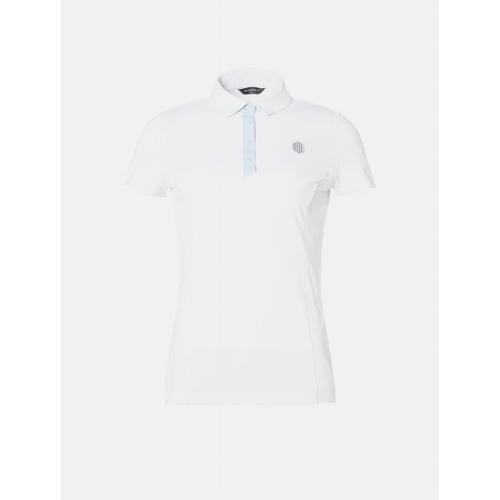 [빈폴골프] [NDL라인] 여성 화이트 백 플리츠 칼라 티셔츠 (BJ9342L641)