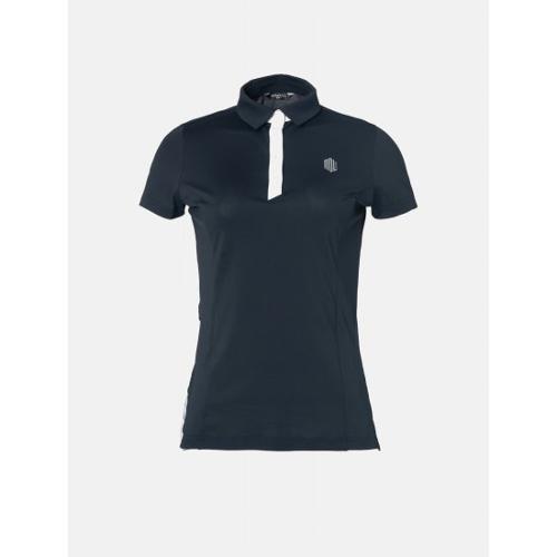 [빈폴골프] [NDL라인] 여성 블랙 백 플리츠 칼라 티셔츠 (BJ9342L645)