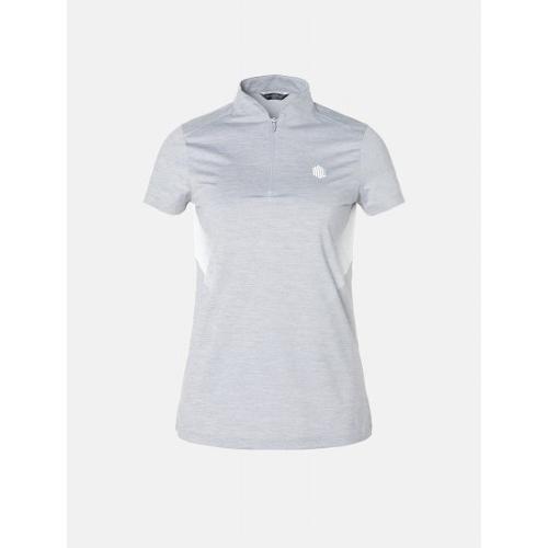 [빈폴골프] [NDL라인] 여성 라이트 그레이 백 로고 포인트 티셔츠 (BJ9342L632)