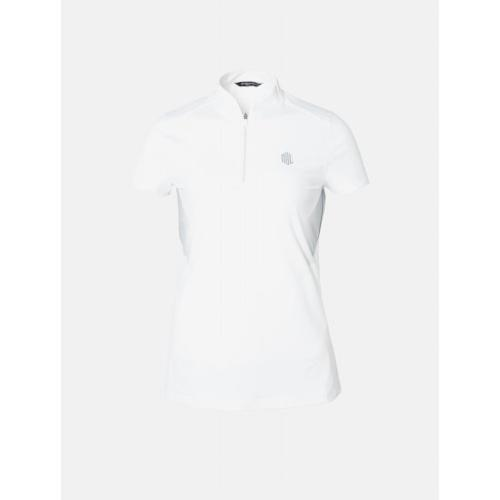[빈폴골프] [NDL라인] 여성 화이트 백 로고 포인트 티셔츠 (BJ9342L631)