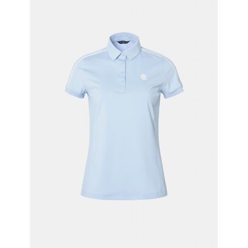 [빈폴골프] [NDL라인] 여성 스카이 블루 솔리드 로고 티셔츠 (BJ9342L60Q)