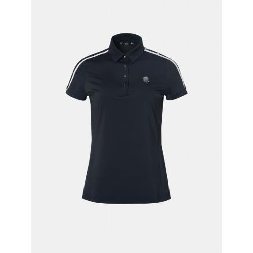 [빈폴골프] [NDL라인] 여성 블랙 솔리드 로고 티셔츠 (BJ9342L605)