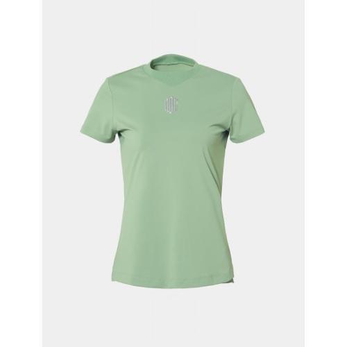 [빈폴골프] [NDL라인] 여성 카키 원포인트 라운드넥 티셔츠 (BJ9442L70H)