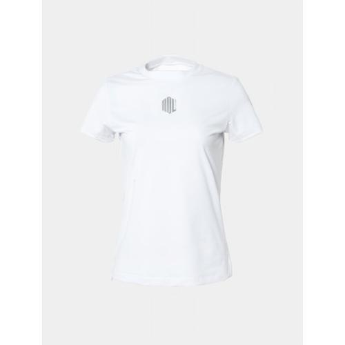 [빈폴골프] [NDL라인] 여성 화이트 원포인트 라운드넥 티셔츠 (BJ9442L701)