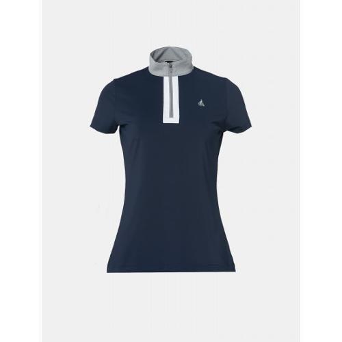 [빈폴골프] 여성 네이비 배색 반집업 티셔츠 (BJ9442OA2R)