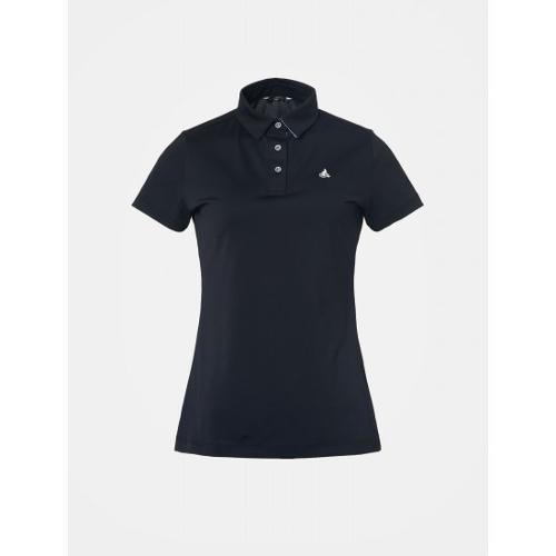 [빈폴골프] 여성 블랙 솔리드 칼라 티셔츠 (BJ9442OA15)