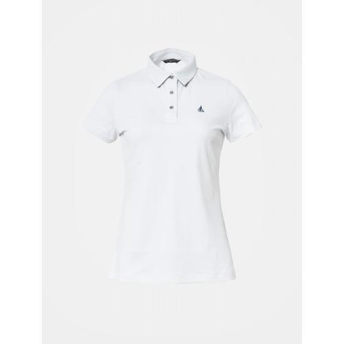 [빈폴골프] 여성 화이트 솔리드 칼라 티셔츠 (BJ9442OA11)