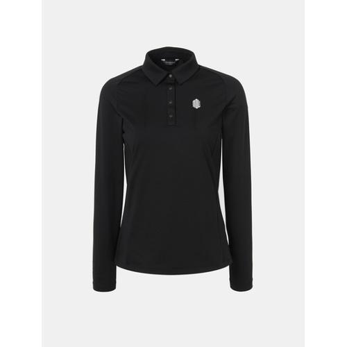 [빈폴골프] [NDL라인] 여성 블랙 백플리츠 칼라 티셔츠 (BJ8841L035)