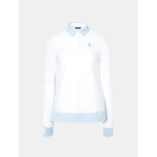[빈폴골프] [NDL라인] 여성 화이트 냉감 포인트 칼라 티셔츠 (BJ9341L681)