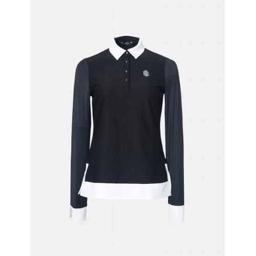 [빈폴골프] [NDL라인] 여성 블랙 냉감 포인트 칼라 티셔츠 (BJ9341L685)