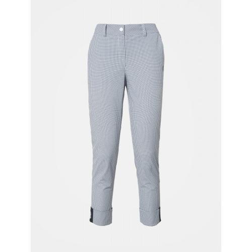 [빈폴골프] [NDL라인] 여성 화이트 냉감 패턴 턴업 팬츠 (BJ9321L411)