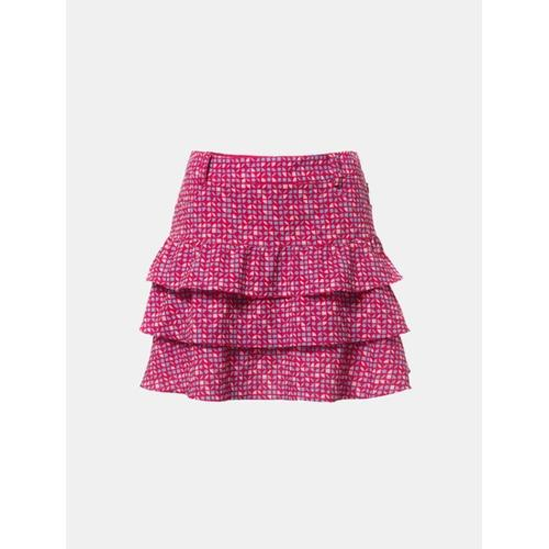[빈폴골프] 여성 핑크 올오버 패턴 큐롯 (BJ8426A20X)