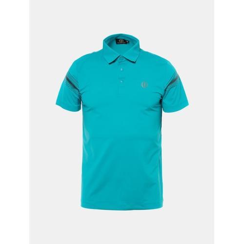 [빈폴골프] [THE OPEN] 남성 그린 브이컷 반팔 티셔츠 (BJ8342F44M)