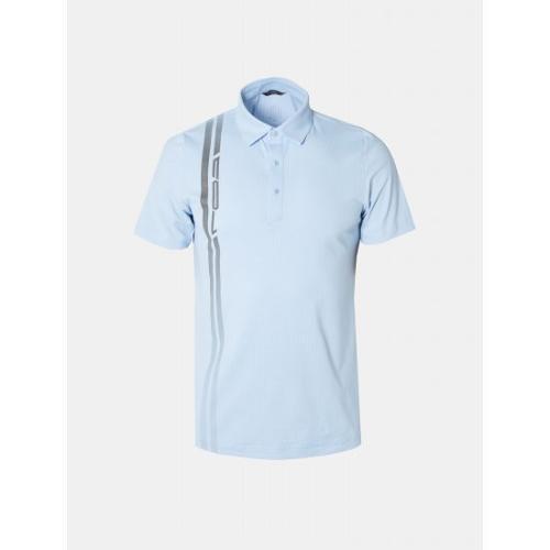 [빈폴골프] [NDL라인] 남성 스카이 블루 원포인트 칼라 티셔츠 (BJ9342M44Q)