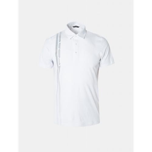 [빈폴골프] [NDL라인] 남성 화이트 원포인트 칼라 티셔츠 (BJ9342M441)