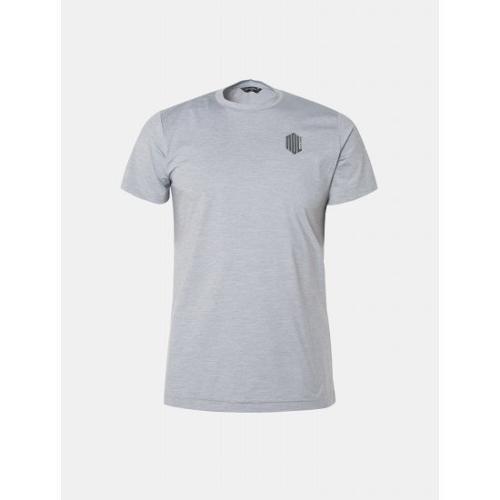 [빈폴골프] [NDL라인] 남성 그레이 솔리드 라운드넥 티셔츠 (BJ9442M493)
