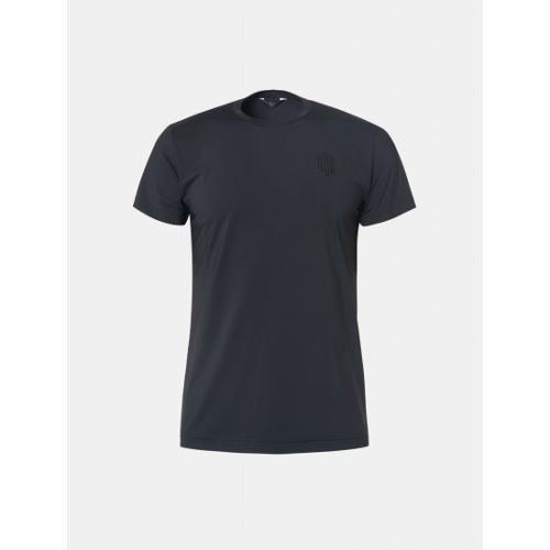 [빈폴골프] [NDL라인] 남성 블랙 솔리드 라운드넥 티셔츠 (BJ9442M495)