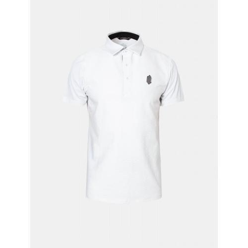 [빈폴골프] [NDL라인] 남성 화이트 솔리드 텍스처 칼라 티셔츠 (BJ9342M431)