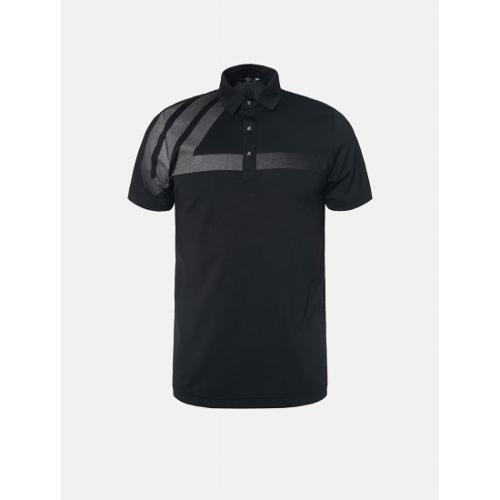 [빈폴골프] [NDL라인] 남성 블랙 원포인트 칼라 티셔츠 (BJ9342M425)
