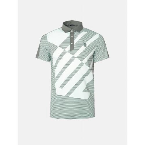 [빈폴골프] [NDL라인] 남성 카키 로고 스트라이프 칼라 티셔츠 (BJ9442M52H)