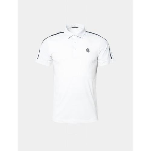 [빈폴골프] [NDL라인] 남성 화이트 슬리브 테이프 칼라 티셔츠 (BJ9442M511)