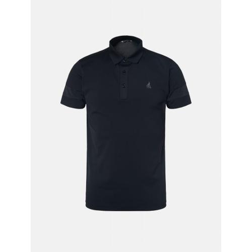 [빈폴골프] 남성 블랙 배색 소매 칼라 티셔츠 (BJ9442OB15)