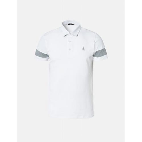 [빈폴골프] 남성 화이트 배색 소매 칼라 티셔츠 (BJ9442OB11)