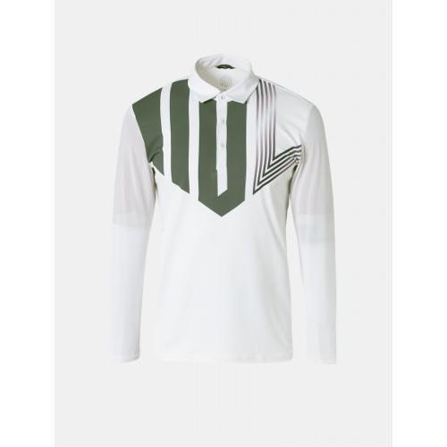 [빈폴골프] [NDL라인] 남성 화이트 로고 포인트 냉감 칼라 티셔츠 (BJ9441M471)