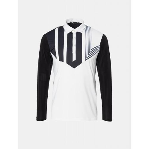[빈폴골프] [NDL라인] 남성 블랙 로고 포인트 냉감 칼라 티셔츠 (BJ9441M475)
