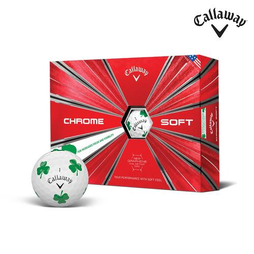 캘러웨이정품 크롬소프트 샴록 클로버 트루비스 골프공 4피스 12알