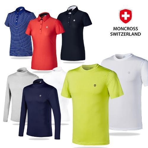 몽크로스 남녀 여름 기능성 골프웨어 6종 1택