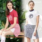 [먼싱웨어] 여성 나일론냉감 펭귄아트웍 티셔츠 (M9322LTS71)
