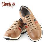 [데니스 골프] 브라운 삼색 배색 스파이크리스 남성 골프화/골프용품_246283