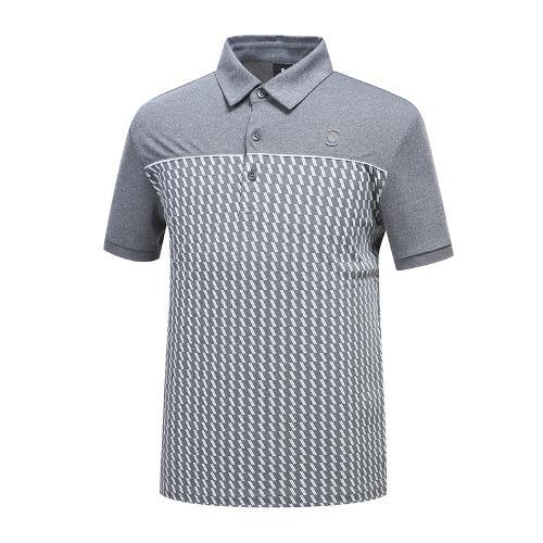 [와이드앵글] 남성 기하학 패턴 배색 티셔츠 1 WMM19236C8