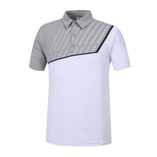 [와이드앵글] 남성 W.아이스 배색 티셔츠 WMM19214C4