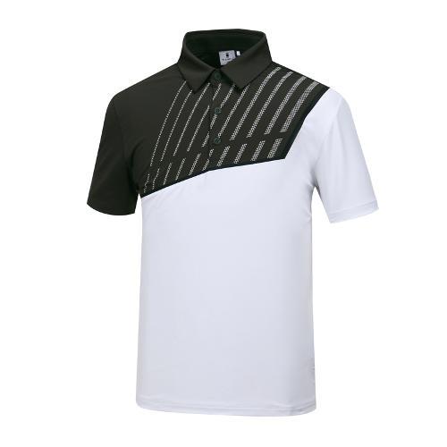 [와이드앵글] 남성 W.아이스 배색 티셔츠 WMM19214K7