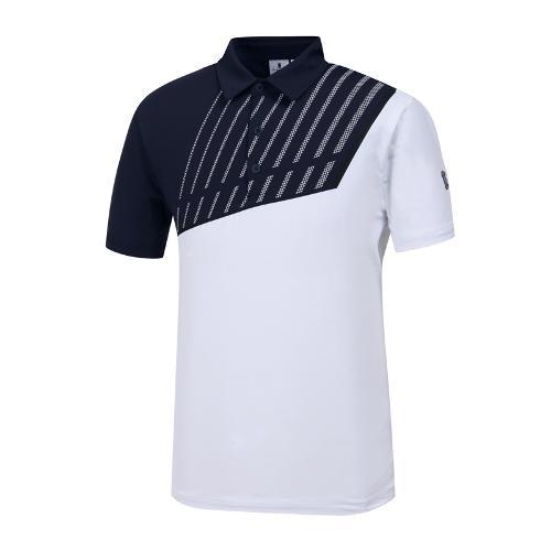 [와이드앵글] 남성 W.아이스 배색 티셔츠 WMM19214N4