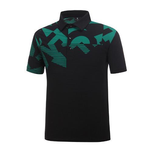 [와이드앵글] 남성 패턴 배색 냉감 써커 티셔츠 WMM19242Z1