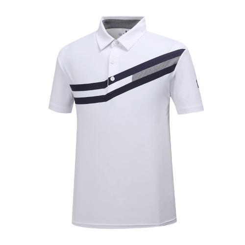[와이드앵글] 남성 메쉬 배색 티셔츠 WMM19215W2