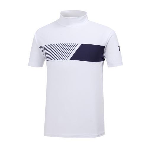 [와이드앵글] 남성 반넥 반팔 티셔츠 WMM19225W2