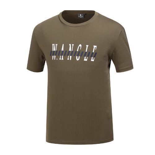 [와이드앵글] 남성 로고 포인트 라운드 티셔츠 WMM19249K7