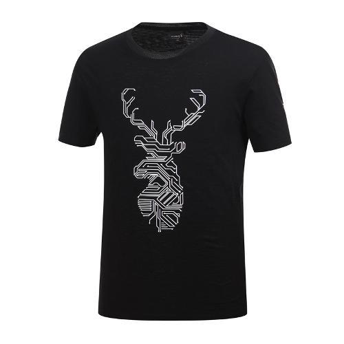 [와이드앵글] 남성 클럽스칸딕 라운드 티셔츠 WMM19256Z1